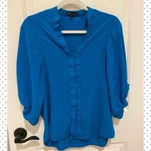 Express Blue Blouse